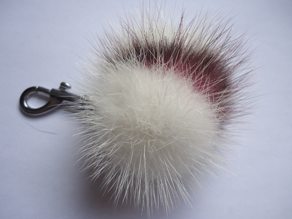 Mink Furball pendant with possum