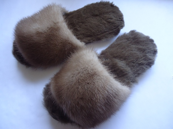 Fur slippers / slippers - shoe size 38