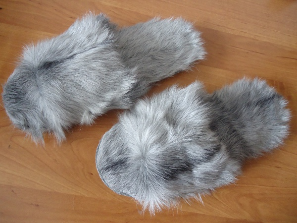 Fur slippers / slippers - shoe size 39
